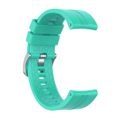 Green lattice elegant silicone watch strap for Haylou LS02