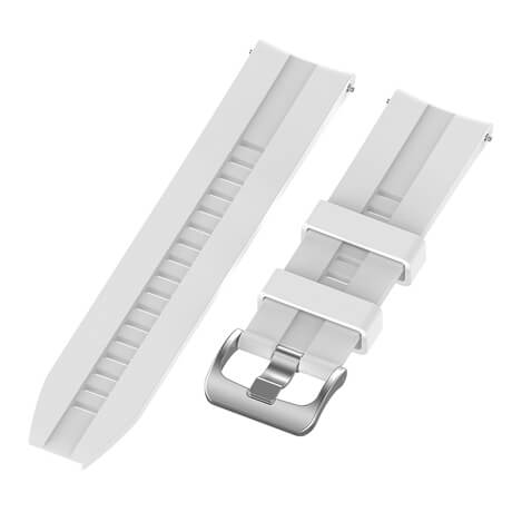 White lattice elegant silicone watch strap for Haylou LS02