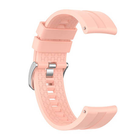 Pink lattice elegant silicone watch strap for Haylou LS02