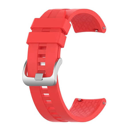 Red lattice elegant silicone watch strap for Haylou LS02