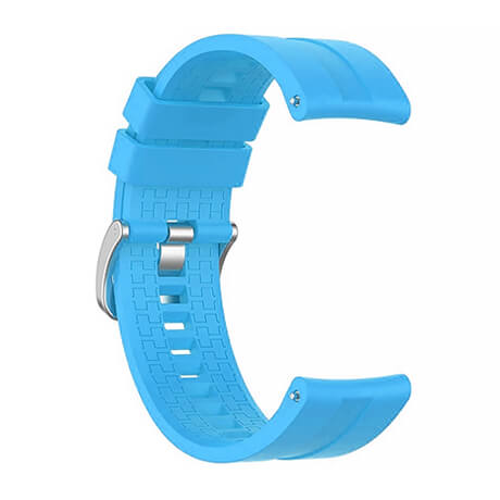 Sky Blue lattice elegant silicone watch strap for Haylou LS02