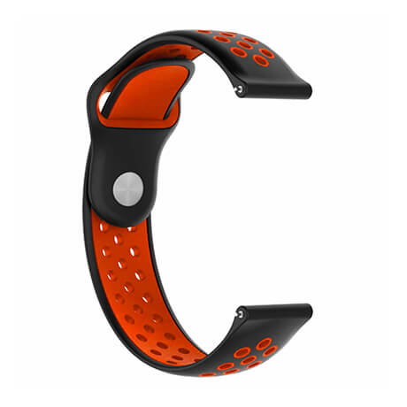 Black/Red dual color hole reverse buckle silicone band for Haylou LS02