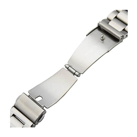 Silver stainless steel watch band for Haylou LS02