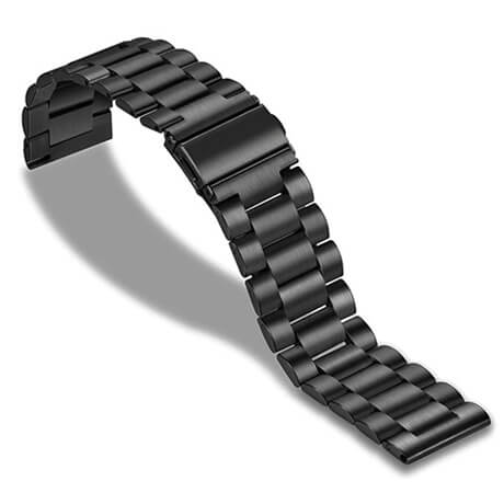 Black stainless steel watch band for Haylou LS02