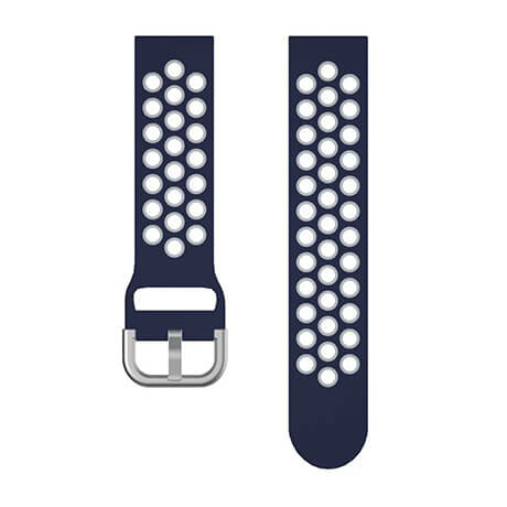 Dark Blue/Gray dual color hole silicone watch band for Haylou LS02