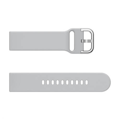 Grey soft silicone watch strap for Haylou LS02