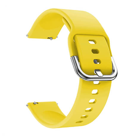 Yellow soft silicone watch strap for Haylou LS02