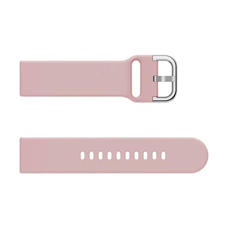 Pink soft silicone watch strap for Haylou LS02