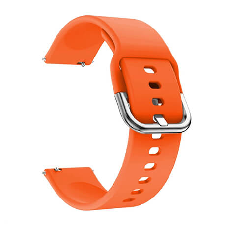 Orange soft silicone watch strap for Haylou LS02