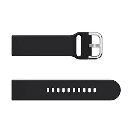 Black soft silicone watch strap for Haylou LS02