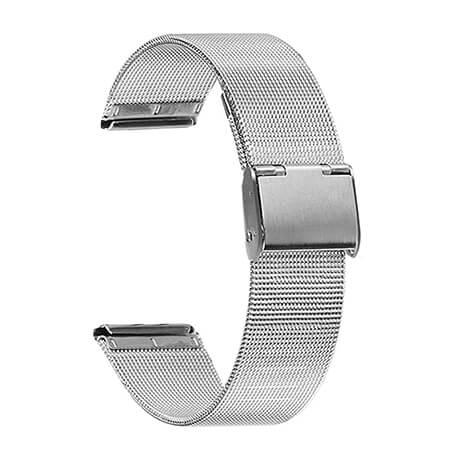 Silver metal milanese bracelet for Haylou LS02
