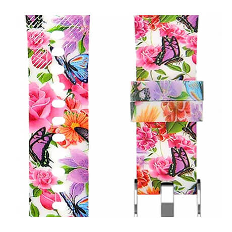 Bright flowers print soft silicone band for Haylou LS02