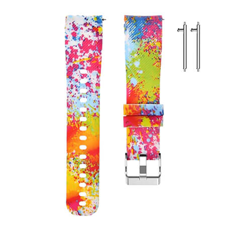 Paint spots print soft silicone band for Haylou LS02