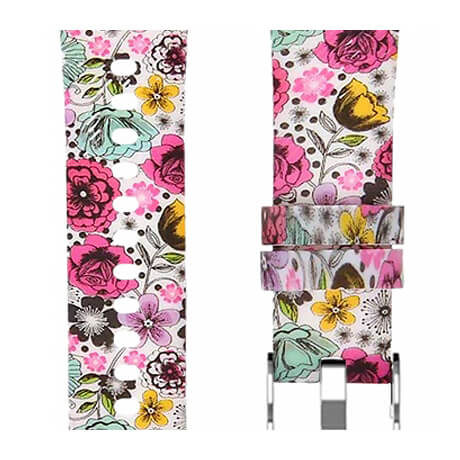 Various flowers print soft silicone band for Haylou LS02