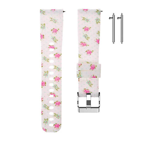 Small flowers print soft silicone band for Haylou LS02