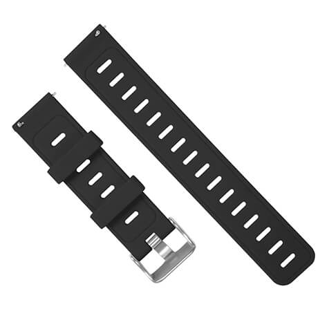 Black silicone soft wristband for Haylou LS02