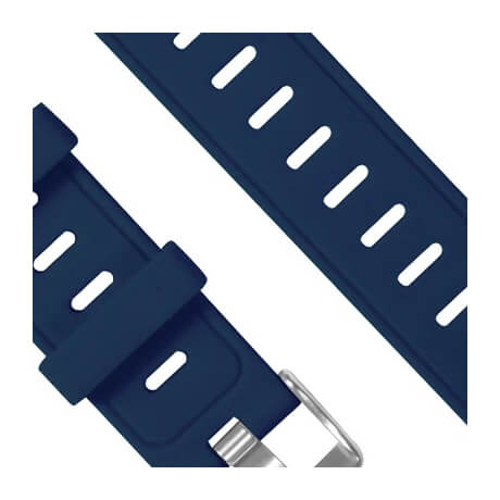 Dark blue silicone soft wristband for Haylou LS02