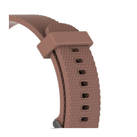 Brown Correa silicone soft strap for Haylou LS02