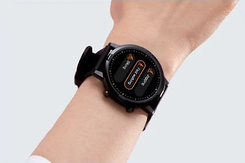 Haylou RT LS05S Smart Watch on hand